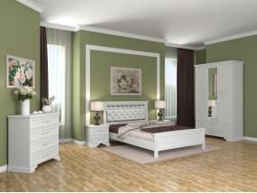 Спальный гарнитур Грация (белый лак)
