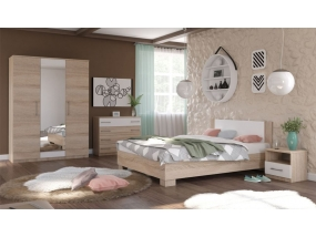 Спальный гарнитур Аврора (Сонома/белый)