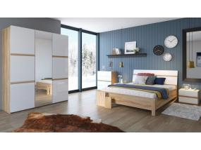 Спальный гарнитур Дакота (Сонома/белый глянец)