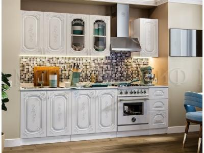 Кухонный гарнитур Лиза-2 (2,0) белый глянец