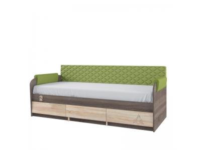 Кровать 12.1 МДК 4.14 + спинка СМ № 7.1 (эвкалипт)+ 1.1 н-р подлокотников