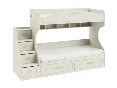 Кровать двухъярусная с приставной лестницей Лючия СМ-235.11.01