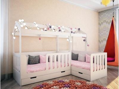 Кровать домик Сказка для 2-х детей