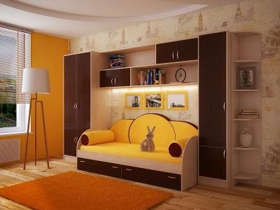Детская модульная мебель Фанки Кидз (композиция 1)