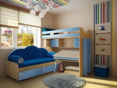 Детская модульная мебель Фанки Кидз 22 (композиция 10)