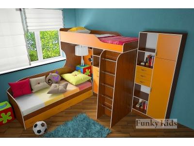 Детская модульная мебель Фанки Кидз 7 (композиция 6)