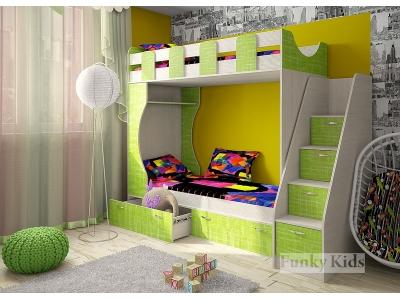 Детская модульная мебель Фанки Кидз 5 (композиция 2)