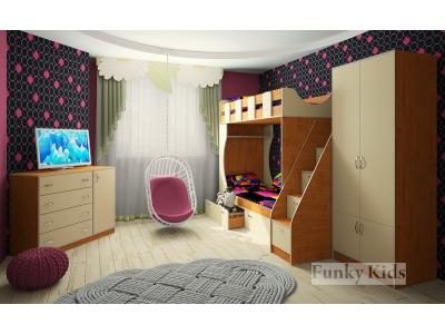 Детская модульная мебель Фанки Кидз 5 (композиция 4)