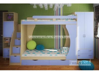 Детская модульная мебель Фанки Кидз 2 (композиция 3)