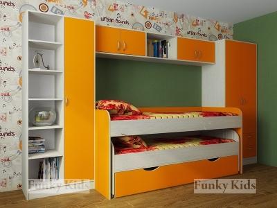 Детская модульная мебель Фанки Кидз 8 (композиция 4)