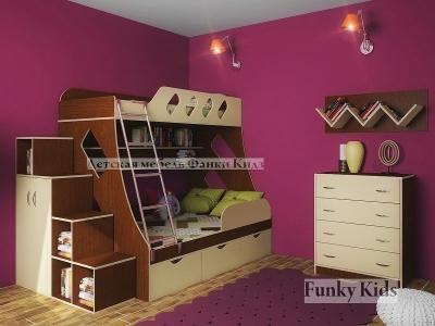 Детская модульная мебель Фанки Кидз 16 (композиция 6)
