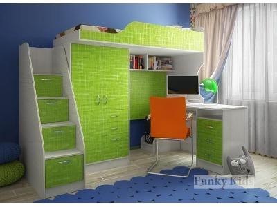 Детская модульная мебель Фанки Кидз 4 (композиция 8)