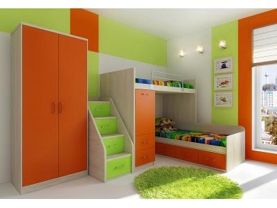 Детская модульная мебель Фанки Сити (композиция 5)