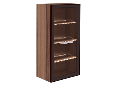 Шкаф навесной с подсветкой Сенатор