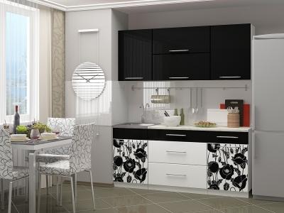 Кухонный гарнитур Маки 1.8 черный (МДФ)