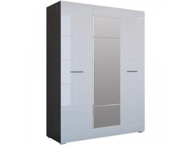Шкаф Ненси 3-х дверный (венге/белый глянец)