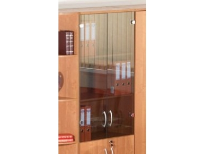 Двери стеклянные 3 секции Альфа 38