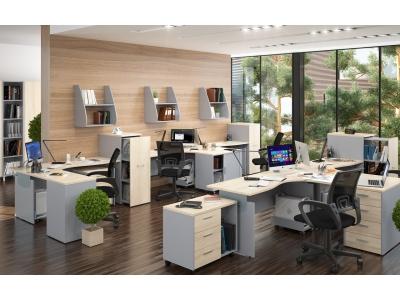 Комплект офисной мебели Offix New К2 сонома