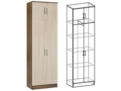 Шкаф 2-х створчатый комбинированный Машенька (ясень шимо)