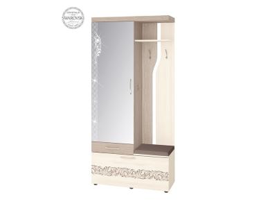 Вешалка комбинированная с зеркалом Мэри 39.07