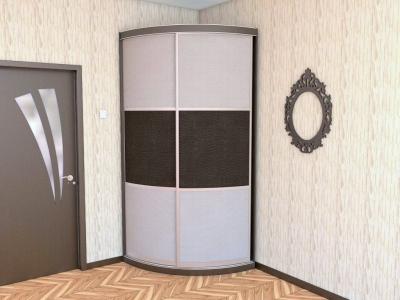 """Радиусный шкаф купе """"Радион-1"""" венге/крокодил капитон"""