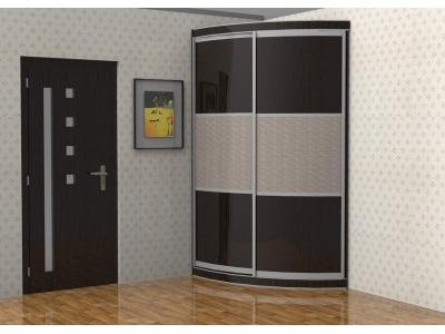 """Радиусный шкаф купе """"Радион-2"""" асимметричный правый/левый"""