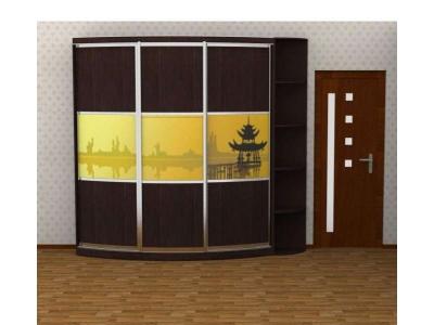 """Радиусный шкаф купе """"Радион Line"""" фотопечать №4 с угловым элементом"""