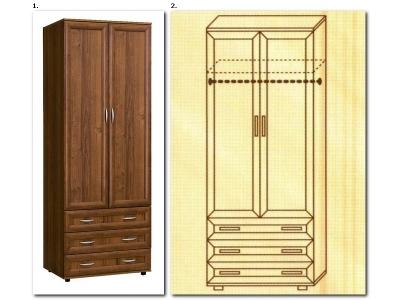 Шкаф для одежды № 100