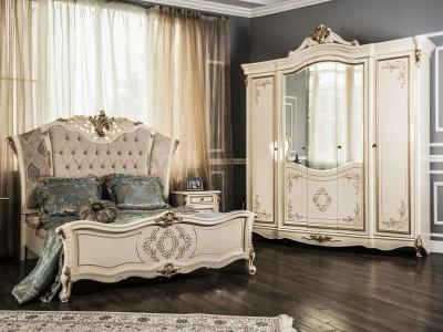 Спальный гарнитур Оливия (крем глянец)
