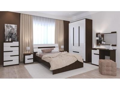 Спальный гарнитур Гавана (белый глянец)