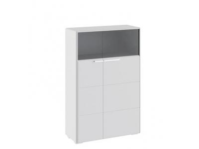 Шкаф комбинированный с 2-мя дверями ТД-208.07.29 Наоми (белый глянец)