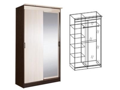Шкаф-купе 2-х створчатый с зеркалом Светлана