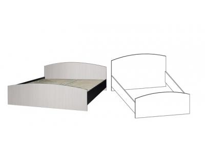 Кровать 1200*2000 под ортопедическое основание Светлана