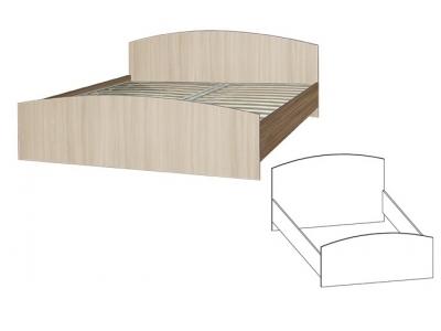 Кровать 900*2000 под ортопедическое основание Светлана (Ясень шимо)