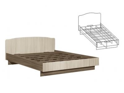 Кровать односпальная 900 Светлана (Ясень шимо)