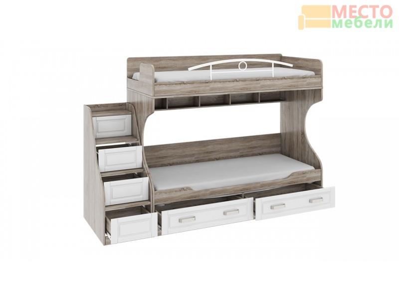 Двухъярусная кровать «Прованс» СМ-223.11.001