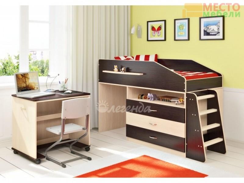 Детская кровать  Легенда 12.1 + стол