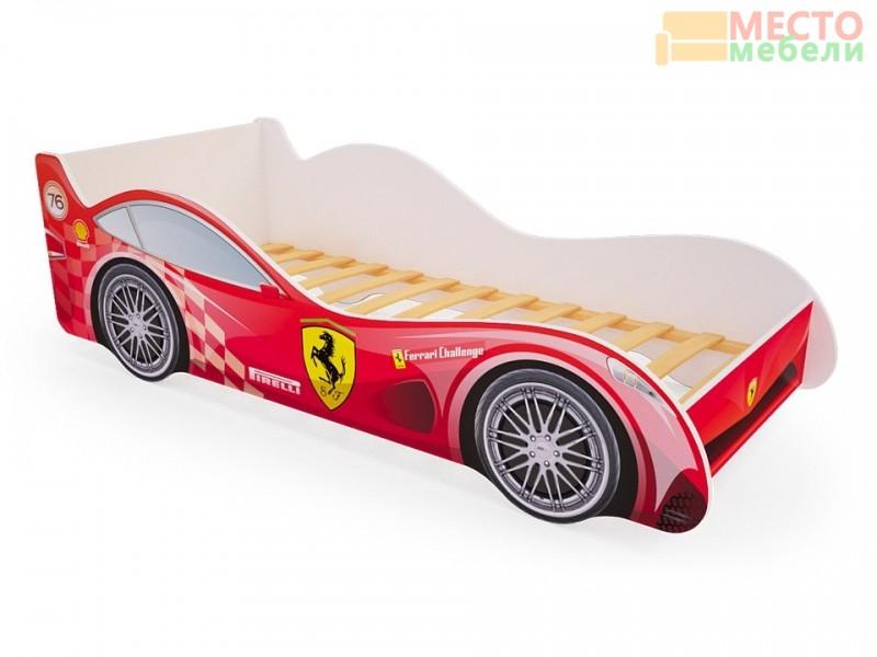 Кровать машина Ferrary красная
