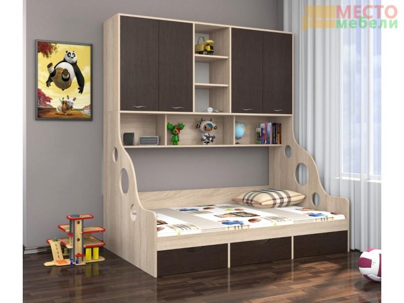 Кровать с антресолью Дельта-21.11