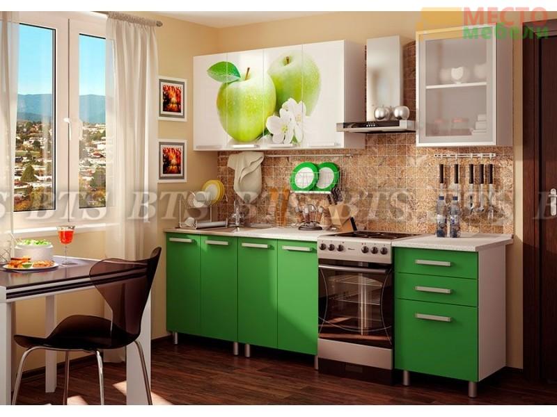Кухня с фотопечатью Фруттис 1,8