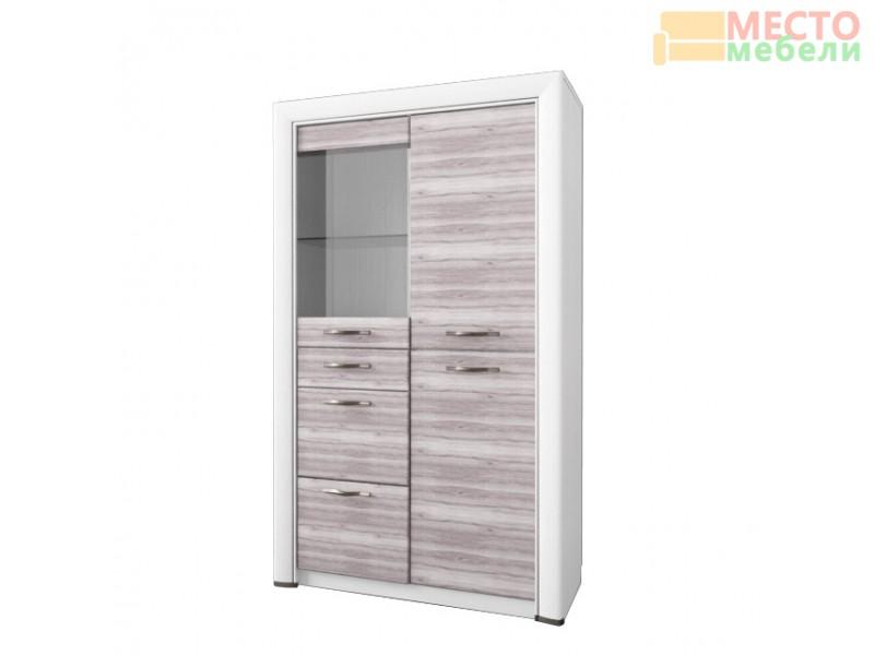 Шкаф-витрина 1V2D3S Оливия
