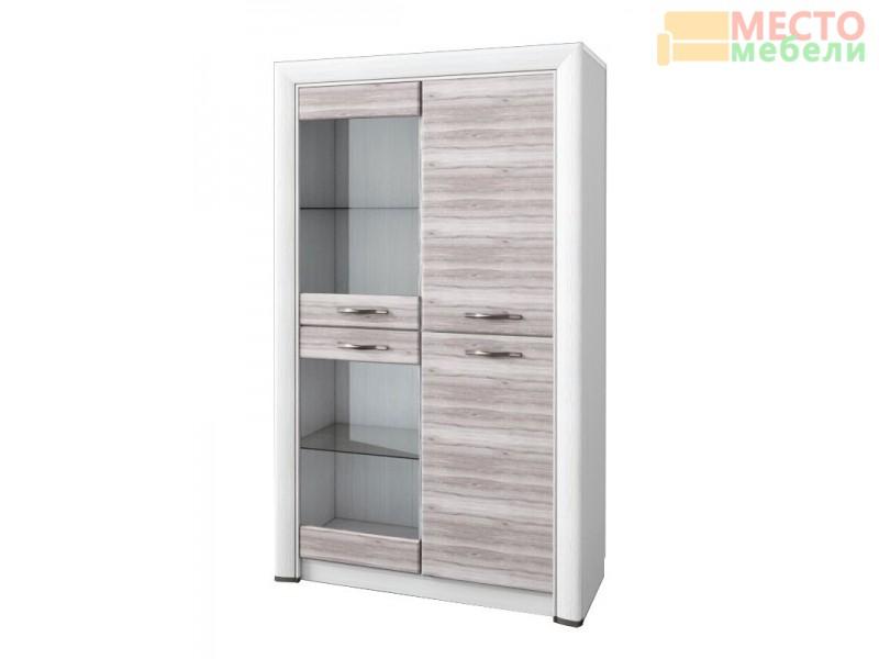 Шкаф-витрина 2V2D Оливия
