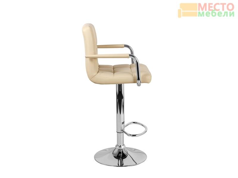 Барный стул Крюгер АРМ WX-2318C экокожа, бежевый