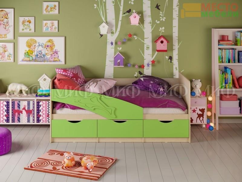 Детская кровать Дельфин МДФ 1,8