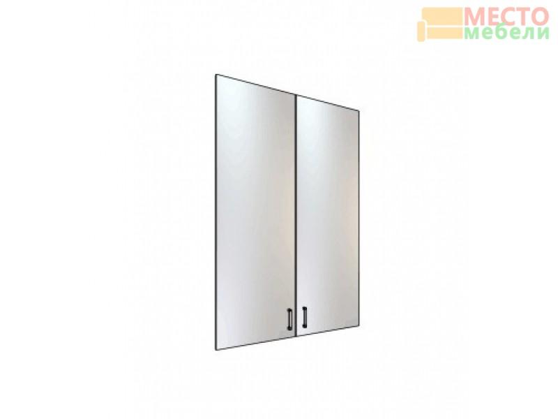 Двери стеклянные 3 секции Рубин 38