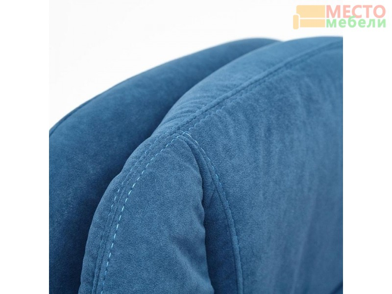 Флок синий коричневый шелк