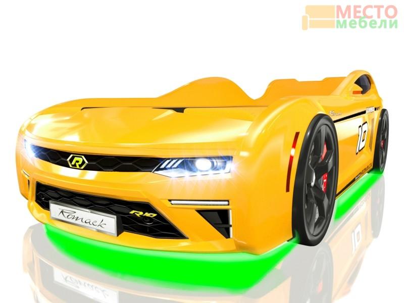 Кровать машина Romack Energy желтый