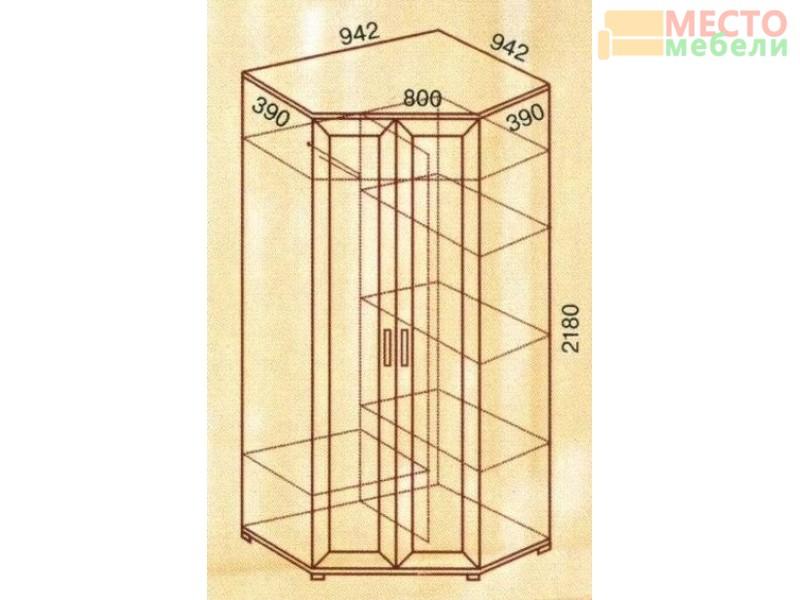Шкаф угловой двухдверный №146