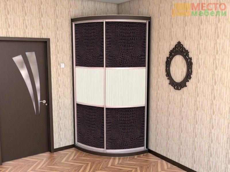 """Радиусный шкаф купе """"Радион-1"""" крокодил/сев.дерево"""