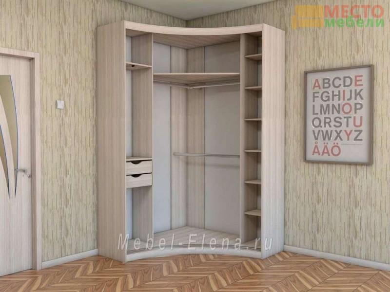 """Радиусный шкаф купе """"Радион"""" с угловым распашным элементом"""